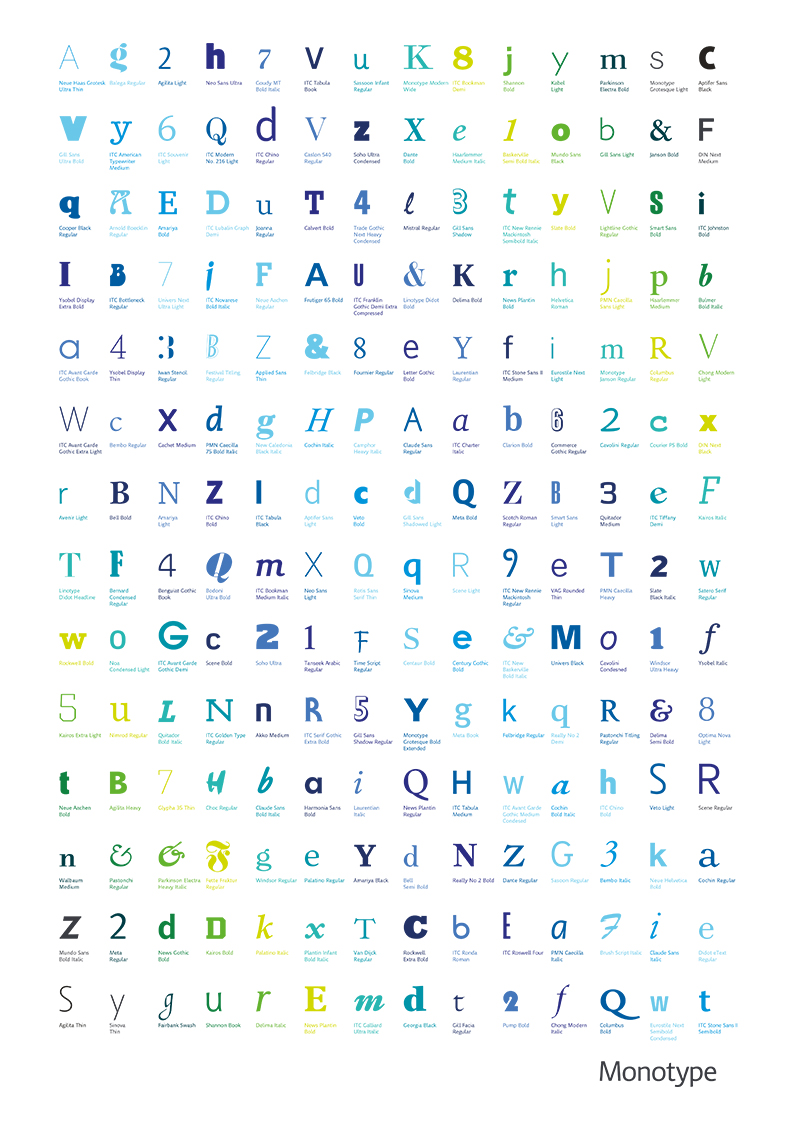 Monotype Glyph Set - Tom Walsh Design