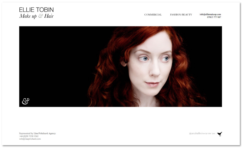 Tom Walsh Design - Ellie Make Up & Hair website