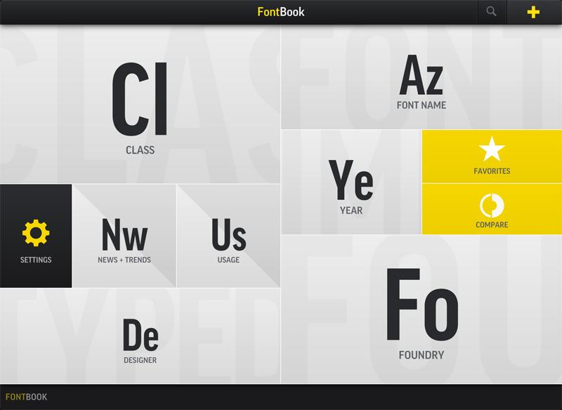 tom walsh design - fontbook iPad app