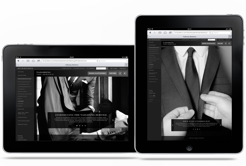 Burberry Tailoring - Tom Walsh Design
