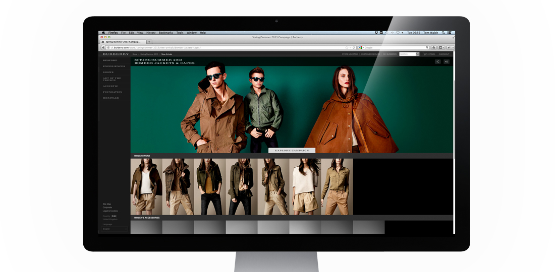 Burberry Spring Summer 2013 Campaign - Tom Walsh Design